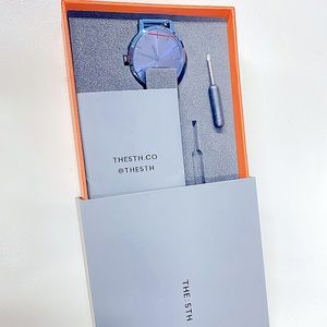 The fifth brand new unworn watch. Metalic blue.